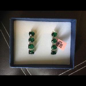 Jewelry - Simulated Emerald Earrings